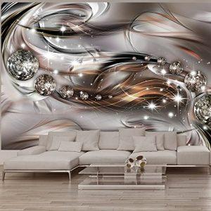 Vlies Fototapete 350×245 cm – 3 Farben zur Auswahl – Top – Tapete – Wandbilder XXL – Wandbild – Bild – Fototapeten – Tapeten – Wandtapete – Wand – Abstrakt Diamant a-A-0168-a-c