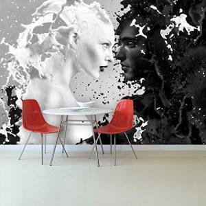 Fototapete Milk & Coffee 366×254 cm Tapete Milch Kaffee Erotik Liebe deco.deals