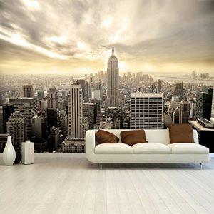 Fototapete Shining Manhattan 366×254 cm Tapete Skyline USA New York deco.deals, Kleisterbürste / Quast:Tapete ohne Kleisterbürste