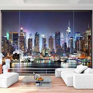 Vlies Fototapete 352×250 cm – 9026011b 'Fenster nach New York' RUNA Tapete