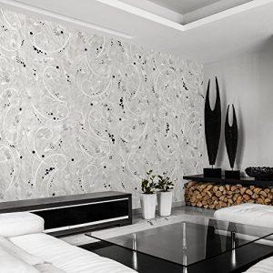 PURO TAPETE – Realistische Tapete ohne Rapport und Versatz ! Kein sich wiederholendes Muster ! 10m VLIES Tapetenrolle ! Diamant Ornament f-A-0195-j-a