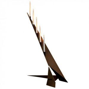 Kerzenständer 5flammig Futura Kupfer Stahl SvenskaV Kerzenleuchter Kerzenhalter