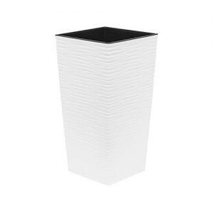 Blumentopf Übertopf Pflanzkübel Blumenkübel- UV – Beständig 30x30x56 cm weiss
