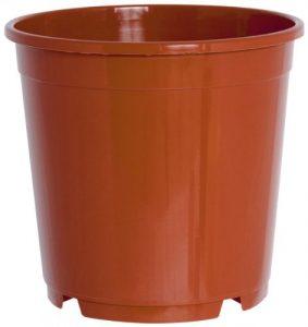 Pflanzkübel CONTAINERTOPF rund aus Kunststoff, Durchmesser:11 cm