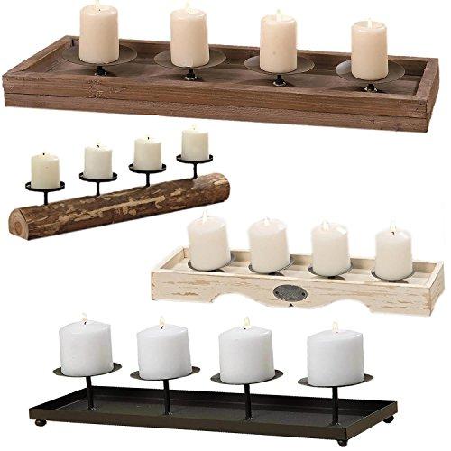 LS Kerzenschale Kerzenständer Kerzenhalter Kerzentablett Metall 60cm schwarz