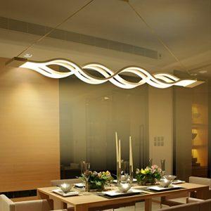 KJLARS LED Pendelleuchte, esstisch Hängelampe Wohnzimmer Küche LED-Pendellampe Moderne Metall und Acryl Hängeleuchte ,höhenverstellbar,Pendellänge maximum 120 cm,Warm white
