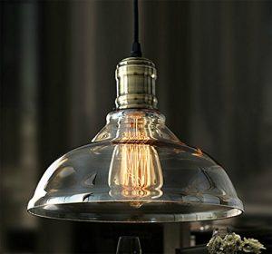 Stylehome 40W Edison Retro Deckenlampe Hängeleuchte Glasschirm Vintage Industrie RL-C005