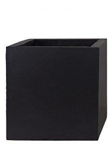 PFLANZWERK® Pflanzkübel CUBE Anthrazit 23x23x23cm *Frostbeständig* *UV-Schutz* *Qualitätsware*