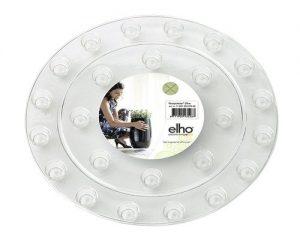 ELHO 5540202010000 Blumentopfuntersetzer floorprotector rund, 21 cm, transparent