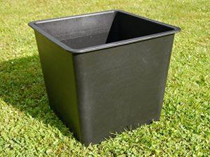 Premium-Pflanzeinsätze aus KUNSTSTOFF L26,5x B26,5x H25cm für Fiberglaskübel, Pflanzkübel, Einsatz, Inlet, Blumenkübel, Pflanzgefäße