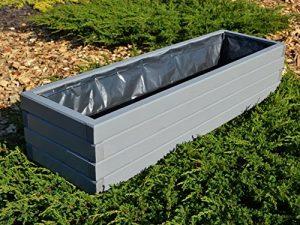 NEU Pflanzkasten aus Holz TOP Pflanzkübel Garten Terrasse fertig montiert D2 Grau (Länge 100 cm)
