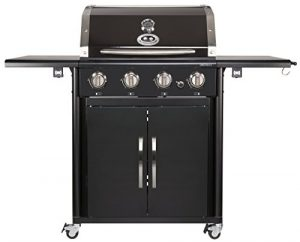 Outdoorchef CANBERRA 4G schwarz BBQ Gasgrill Grillstation 4 Brenner 18.131.27