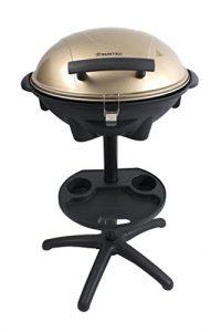 HOME Essentials – Elektrischer Standgrill BBQ-9479 [Auch als Tischgrill geeignet, inkl. Soßenhalter, regelbarer Thermostat, max. 1600 Watt]
