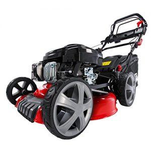 Benzin Rasenmäher BRAST 196ccm Elektrostart per Zündschlüssel regelbarer Selbstantrieb GT Markengetriebe kugelgelagerte Big-Wheeler-Räder Stahlblechgehäuse Easy Clean 4,4kW (6PS)