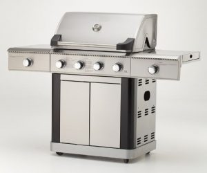 Gasgrill MAXXUS® BBQ CHIEF 10.0 – Edelstahlbrenner, Infrarot Brenner, doppelwandige Haube, Seitenbrenner, Fettwanne