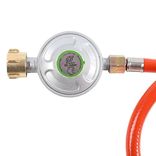 Gasregler Druckminderer 50mbar + Gasschlauch NEU
