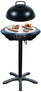 HOBERG BBQ Plus V2, Tisch- und Standgrill mit CERASLIDE BIO-LON CERAMIC Antihaftversiegelung, Schwarz/Silber