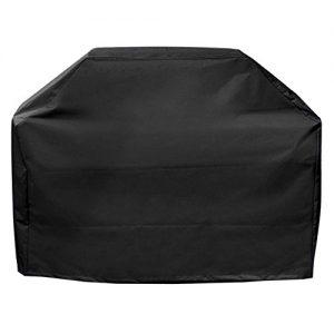 BBQ Grillabdeckung, OMorc Grill-Abdeckhaube Schutzhuelle Haube Wetterschutzabdeckung BBQ Cover mit 600D Polyester-Gewebe für Grill Smoke Barbecue Gasgrill (147x61x122cm)-Schwarz
