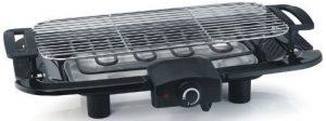E-Tischgrill, Elektrogrill, starke 2000Watt, große Grillfläche 45×22,5cm, leichte Reinigung, BBQ-Grill