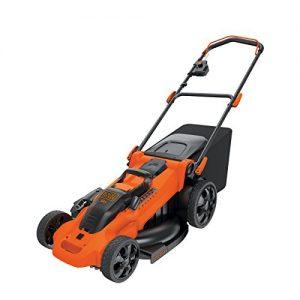 Black+Decker Autosense 3-in-1 Akku-Rasenmäher (36V, inkl. 2 Akkus, 90-Min Schnellladegerät, 50l Fangsack, Mulchfunktion, 48 cm Schnittbreite) CLMA4820L2, schwarz orange