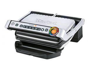 Tefal GC702D Optigrill, Standard-Modell, 2000 W, automatische Anzeige des Garzustandes, 6 voreingestellte Grillprogramme, Edelstahl schwarz/silber