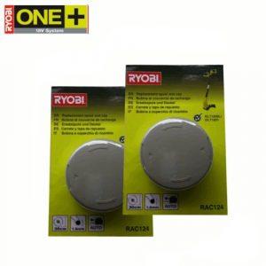 RYOBI 2 Ersatzspulen RAC124, für Akku-Rasentrimmer OLT1831 und RLT1830Li