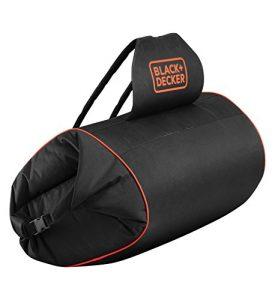 Black+Decker GWBP1 Laubfang-Rucksack, inklusive flexiblem Saugschlauch, 72 L Kapazität