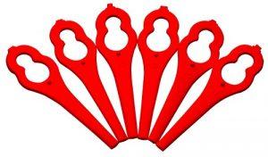 Kunststoffmesser für Akku-Rasentrimmer ART 26 Li, 24 Stück