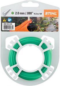 STIHL Rasentrimmer Line 2 mm x 15,3 m, Motorsensenfaden, Mähfaden, Trimmerfaden, 1 Stück, grün, 9302335
