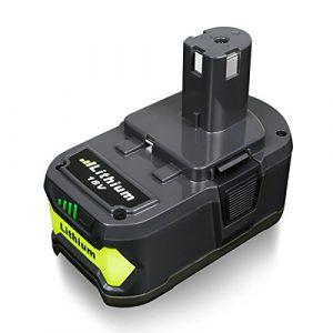 FLAGPOWER P108 18V 4.0Ah Akku für Ryobi ONE+ P108 P107 P122 P104 P105 P102 P103 Li-ion Ersatzakku Werkzeug Batterie