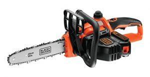 Black+Decker Li Ion Akku-Kettensäge 18V GKC1825L20 mit Akku und Ladegerät / Ideal für Holz- & Gartenarbeiten / 25 cm Schwertlänge