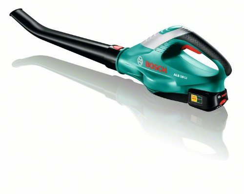 Bosch DIY Akku-Laubbläser ALB 18 LI, Akku, Ladegerät, Karton ( Ladezeit 60 Min, Laufzeit 13 Min, Max. Gebläsegeschwindigkeit 210 km/h)