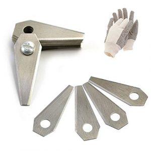 36 Edelstahl Ersatzmesser für Mähroboter | 1 mm | inkl. GRATIS Handschuhe | Bosch Indego | Rasenmäher Messer
