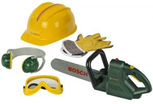 Theo Klein- Bosch 8525 – BOSCH Kettensäge mit Zubehör, Spielzeug