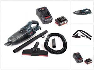 Bosch GAS 18 V Li-Ion Akku Staubsauger Hand Sauger + 1x GBA 18 V 5,0 Ah Einschub Akku + 1x GAL 1880 CV Schnellladegerät 14,4V – 18V