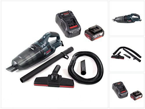 Bosch GAS 18 V Li-Ion Akku Staubsauger Hand Sauger + 1x GBA 18 V 5,0 Ah Einschub Akku + 1x GAL 1880 CV Schnellladegerät 14,4V - 18V