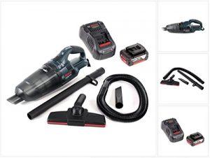 Bosch GAS 18 V Li-Ion Akku Staubsauger Hand Sauger ( 06019C6100 ) + 1x GBA 18 V 4,0 Ah Einschub Akku + 1x GAL 1880 CV Schnellladegerät 14,4V – 18V