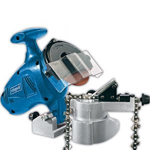 Scheppach 5903601901 Kettenschärfer / kettenschleifgerät KS1000 | für Kettensegen Ketten / Kompakt / für alle gängigen Sägeketten / Einstellskala (Drehzahl: 6300 1-min / 2,3 kg / 180 W)