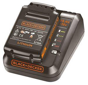 Black+Decker Starterkit, 1A Ladegerät (18V 1.5Ah Li-Ion Akku, LED-Ladezustandsanzeige, 4 Anzeigenmodi, Ladezeit (1.5, 2.0, 4.0Ah): ca. 90 / 120 / 240min, für das 18V-System, 14.4V kompatibel) BDC1A15