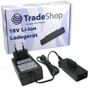 Trade-Shop 18V Li-Ion Akku Ladegerät Ladestation für Gardena Heckenschere Highcut 48-Li Heckenschere Easycut 50-Li Rasentrimmer AccuCut 400 Li (8840-20) Turbotrimmer AccuCut 400 Li Turbotrimmer AccuCut 450 Li (8841)