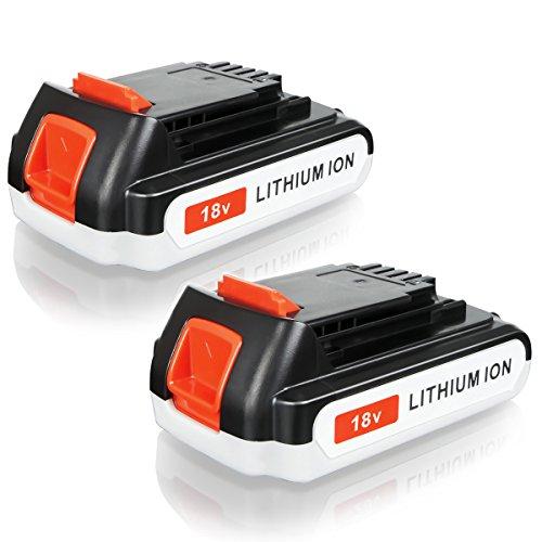 FLAGPOWER 18V 2000mAh Werkzeug Akku für BLACK & DECKER LBXR20 BL2018-XJ GKC1825L GTC1850L20 STC1820 EGBL 188KB EGBL 188K Li-ion Batterie 2.0Ah Accu (2 Stück)