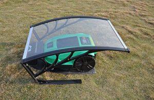 vhbw Polycarbonat Regenschutz, Garage, Cover für Rasenmäher, Rasenroboter Bosch Indego