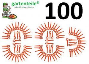 100 Kunststoffmesser passend für Einhell Akku Rasentrimmer BG-CT 18 Li, RG-CT 18/1, GE-CT 18 Li, GE-CT 18 Li Solo
