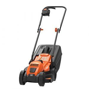 Black+Decker Edge-Max Elektro-Rasenmäher EMAX32 (1200W, 32 cm Schnittbreite, E-Drive Technologie, 35l Grasfangbehälter) schwarz orange