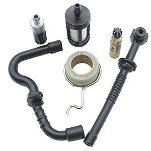 Sharplace Rasenmäher Ersatzteile Schneckengetriebe + Ölpumpe + Ölfilter + Ölleitung + Kraftstoffschlauch Kit Für Stihl Ms180