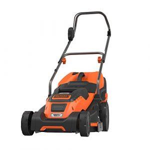 Black+Decker Edge-Max Elektro-Rasenmäher EMAX42 (1800W, 42 cm Schnittbreite, E-Drive Technologie und Compact & Go Funktion) schwarz orange