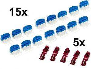 15 Kabel Verbinder + 5 Anschlussklemmen für Gardena Mähroboter (Original von 3M)