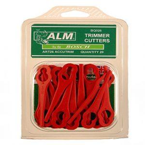 ALM BQ026 Kunststoff Ersatzmesser für Bosch Rasentrimmer (20.er Pack)