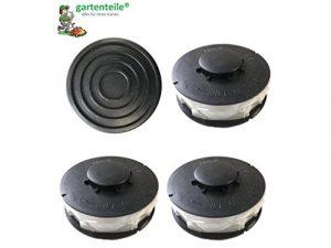 Set 3+1 passend für EINHELL CG-ET 4530 : 3 StückRasentrimmer Ersatzspule / Doppel – Fadenspule plus eine Haube / Spulenabdeckung passend für EINHELL CG-ET 4530 Elektro Rasentrimmer 450 Watt