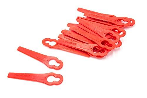 vhbw 20x Kunststoff-Messer für Rasentrimmer Bosch ART 26Li, Accutrim, EasyTrim, ART 2600, Florabest FAT 18 B3, Einhell GE-CT 18 Li